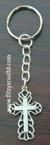 Holy Cross Keyring Religious Christian Key Ring Gift Souvenir